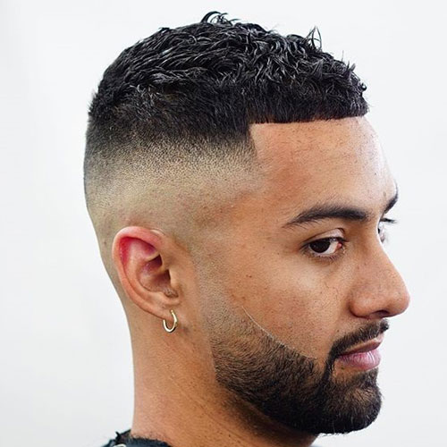 Zero Fade with Clean Hairline and Short Hair