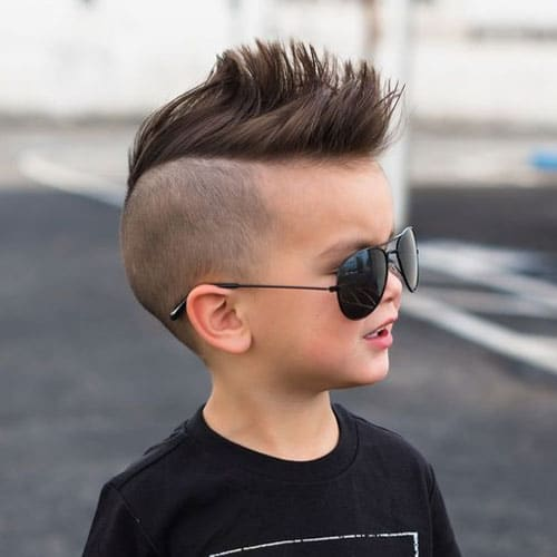 Cute Haircuts for Toddler Boys - Undercut with Faux Hawk
