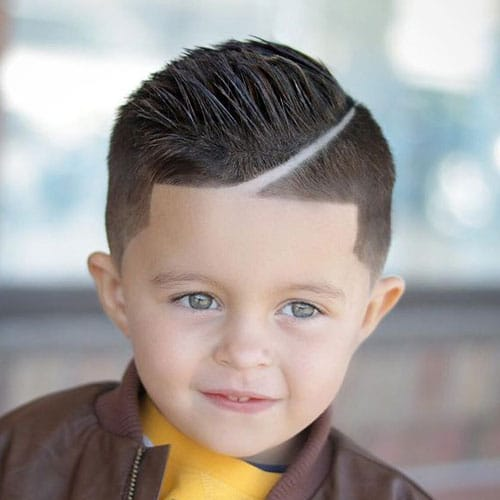 Hard Side Part + Low Fade + Line Up For Cute Little Boys