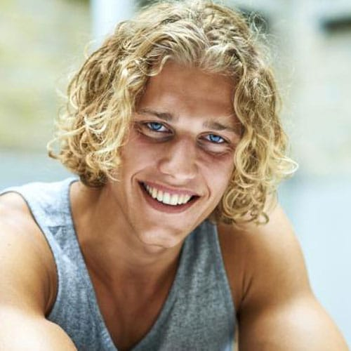 Cool Surfer Dude Hair with Curls