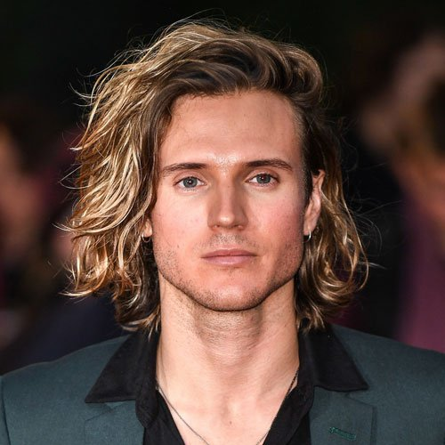 Long Surfer Hair with Blonde Highlights