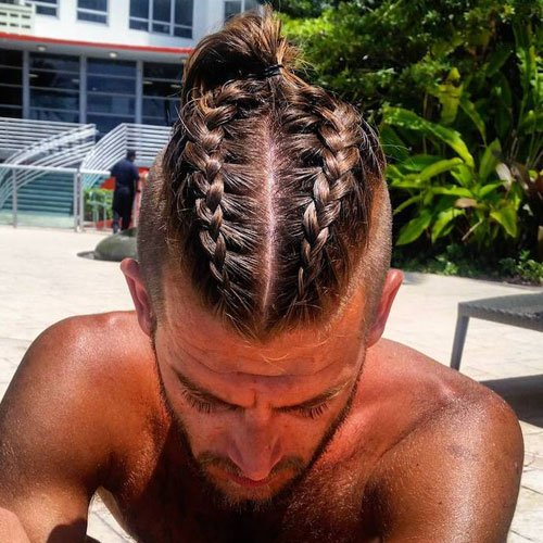 Man Bun Braids