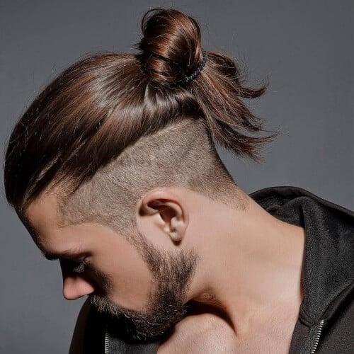 Shaved Hair Under Ponytail
