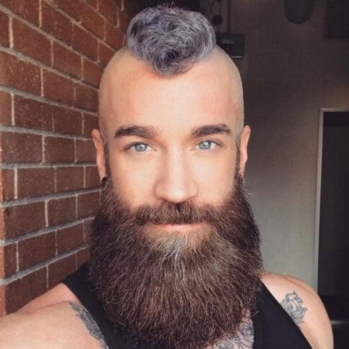 Short Mohawk with Full Beard