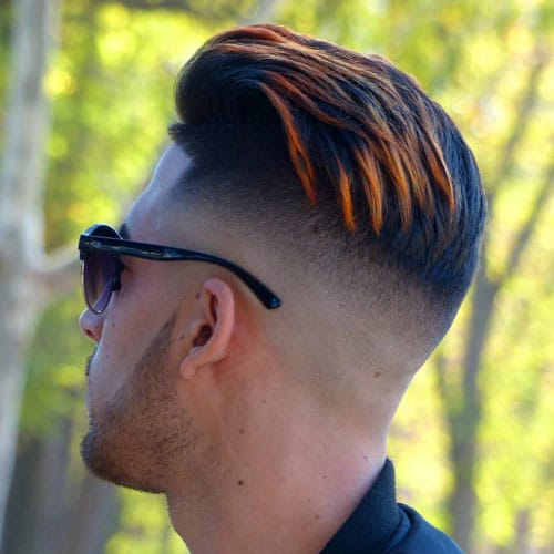 High Bald Fade Pompadour