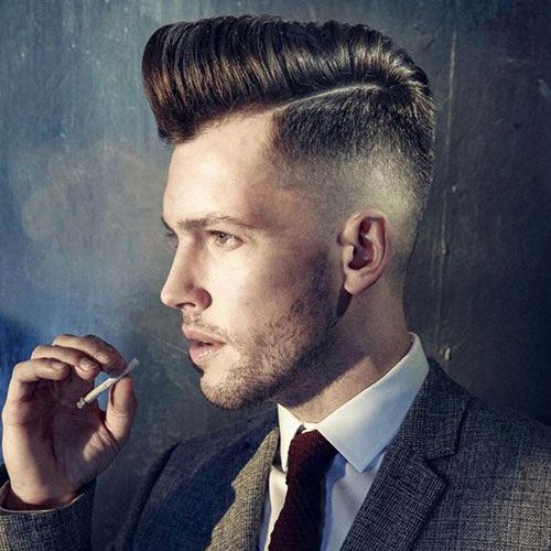 High Fade Comb Over Pomp