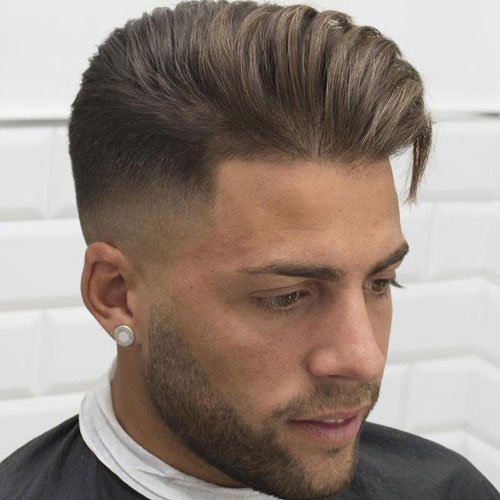 High Fade Haircut with Textured Quiff