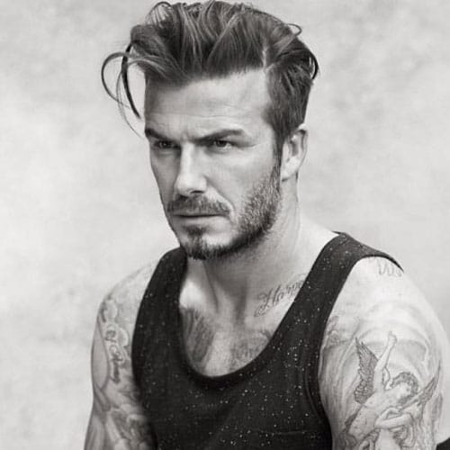 Long Hair Widow's Peak - Long Quiff with Classic Taper