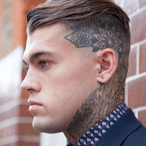 Shaved Sides with Long Hair on Top