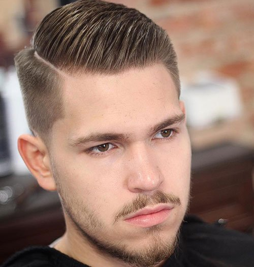Side Part Taper Fade