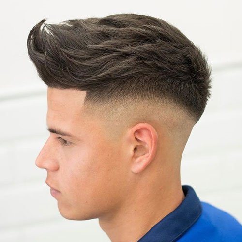 Spiky Hair Top with High Fade