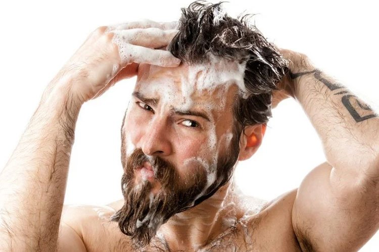 Wash Your Beard To Stop Dandruff on Your Face