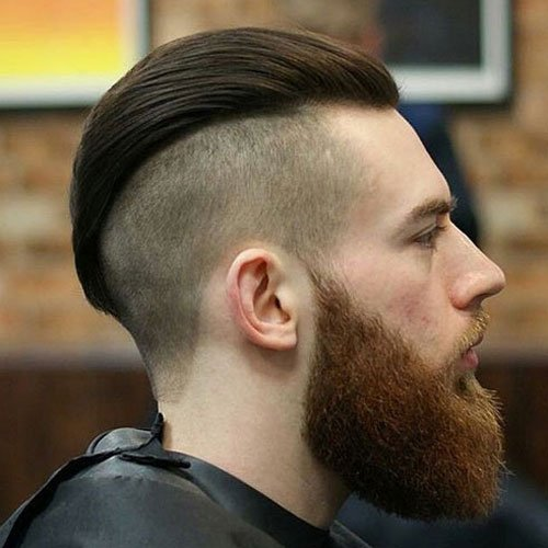 Widows Peak Undercut - Disconnected Undercut with Beard