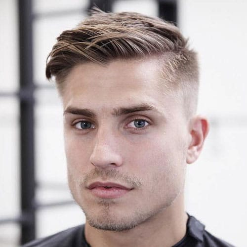 Low Comb Over Fade Haircut
