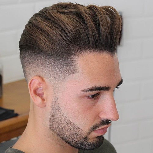 Fuckboi Hairstyles - Taper Fade + Thick Brushed Back Hair