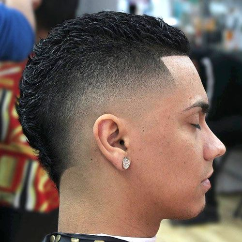 Mid Skin Burst Fade with Line Up