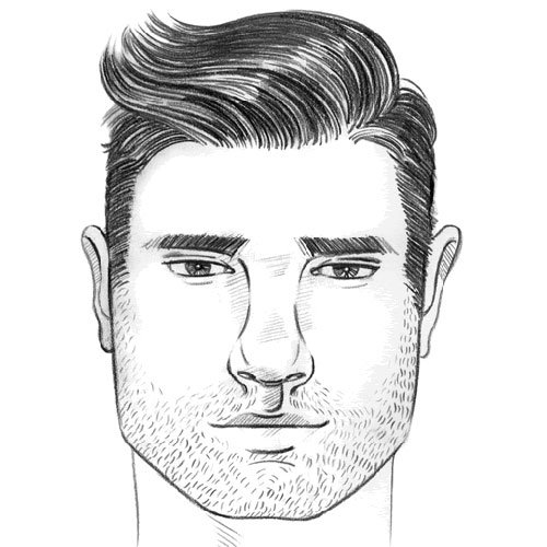 Square Face Shape Men