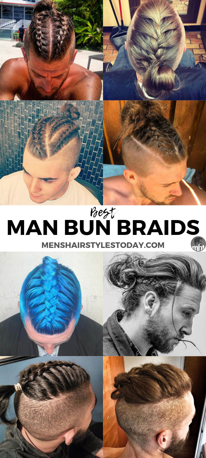 31 best man bun braids hairstyles (2019 guide)