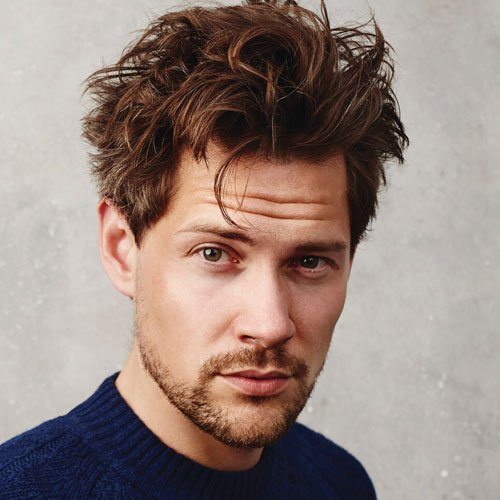 Messy Textured Hair - Cool Messy Medium-Length Men's Hairstyle