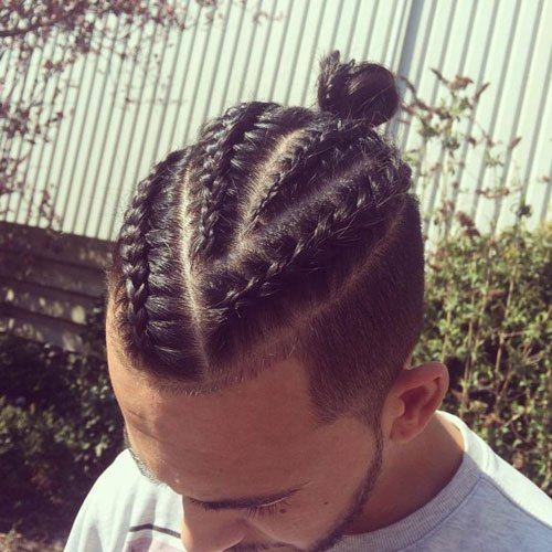 31 Best Man Bun Braids Hairstyles 2020 Guide