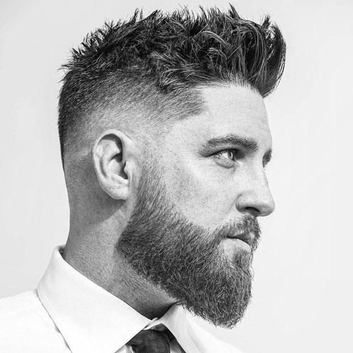 Short Messy Textured Fade Haircut