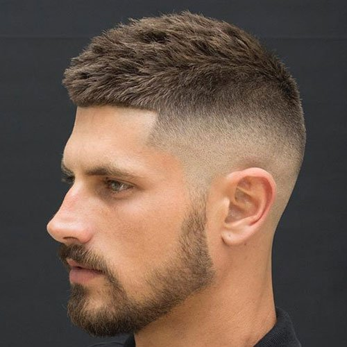 Short Textured Hair For Men - High Bald Fade + Textured Crew Cut + Shape Up
