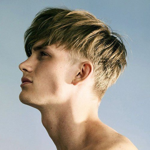 Textured Fringe Hairstyles For Guys + Low Taper Fade