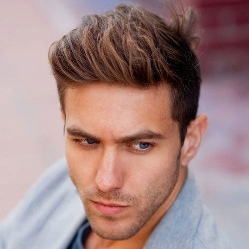 Thick Textured Hair - Brushed Up and Swept Back Textured Hairstyles For Men