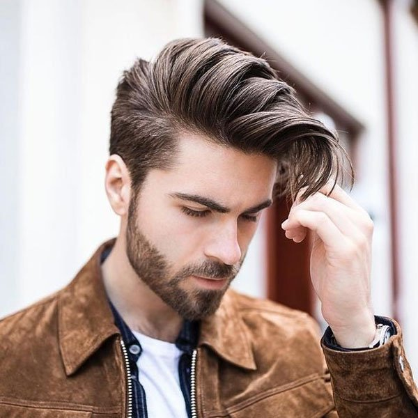 Comb Over + Tapered Haircut
