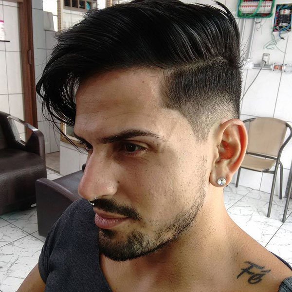 Long Comb Over + Low Fade