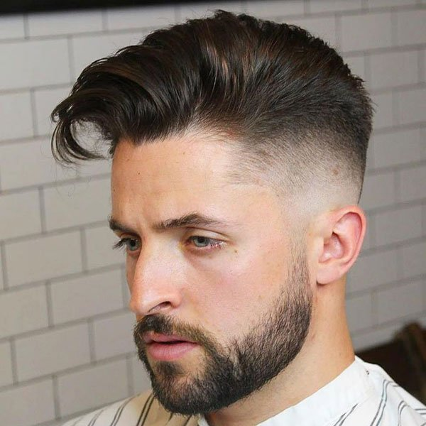 Long Combed Over Hair + High Fade