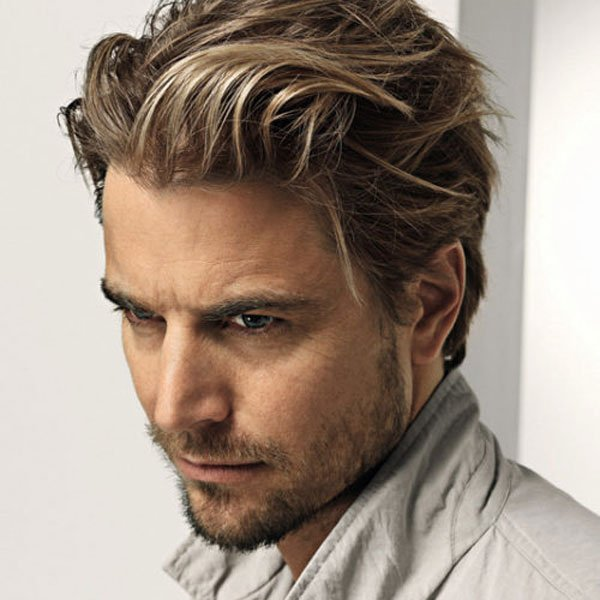 long hairstyle for men beard