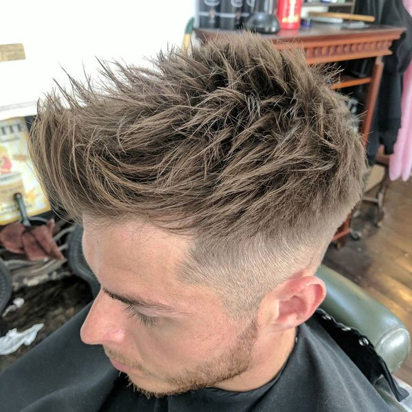 Messy Spiky Hair Taper