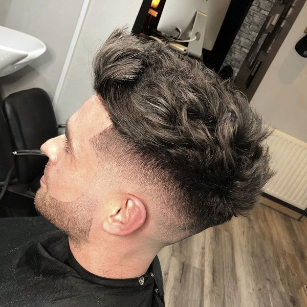 Modern Messy Quiff Haircut For Men