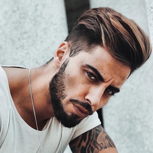 Modern Pompadour Undercut + Beard