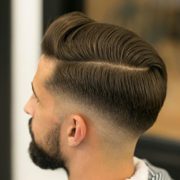 Short Comb Over + Low Fade