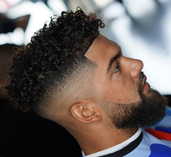 Short Curly Hair Taper Fade
