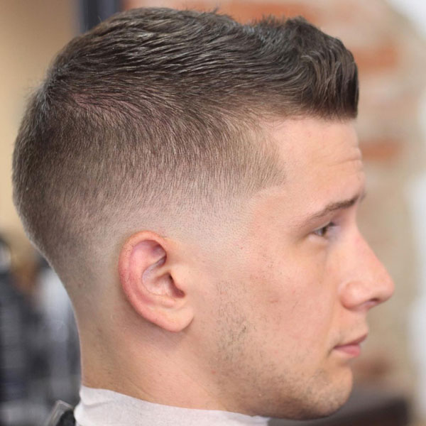 Short Men's Cut + Spiked Front + Low Skin Fade