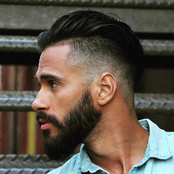 Short Swept Back Fade