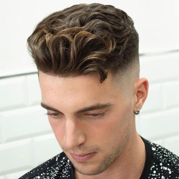 Short Wavy Hair Fade