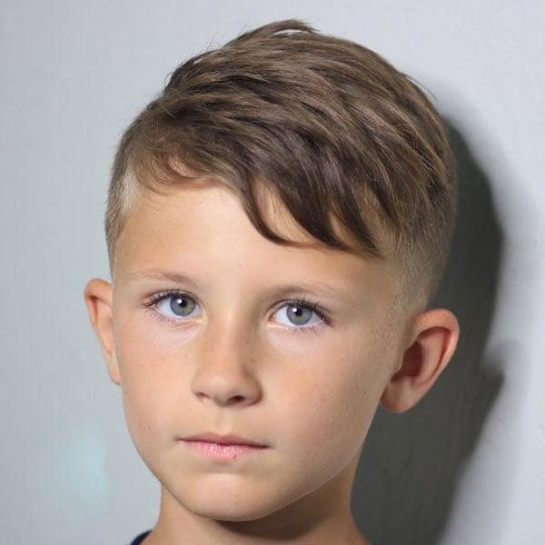 Cute Side Swept Hair For Kids