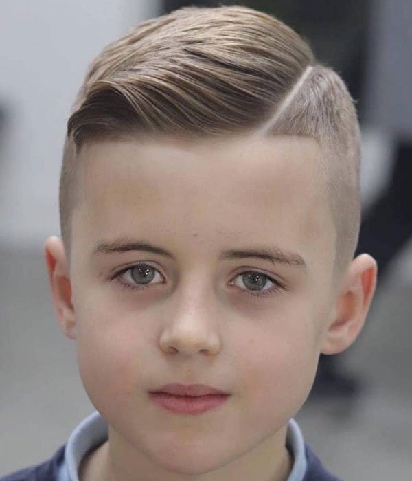 Hard Part Comb Over Fade For Kids