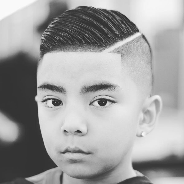 Kids Comb Over Fade