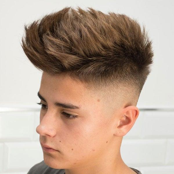 Kids Faux Hawk Fade Haircuts