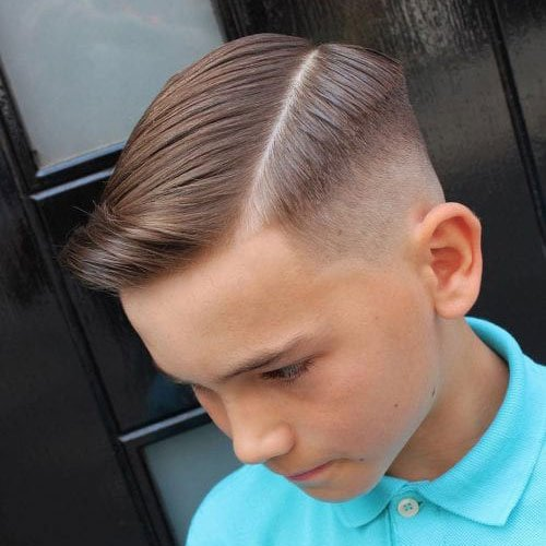 Modern Boys Hard Part Haircut