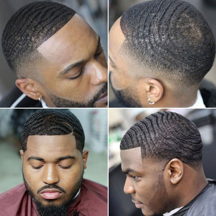 360 Waves Fade Haircut