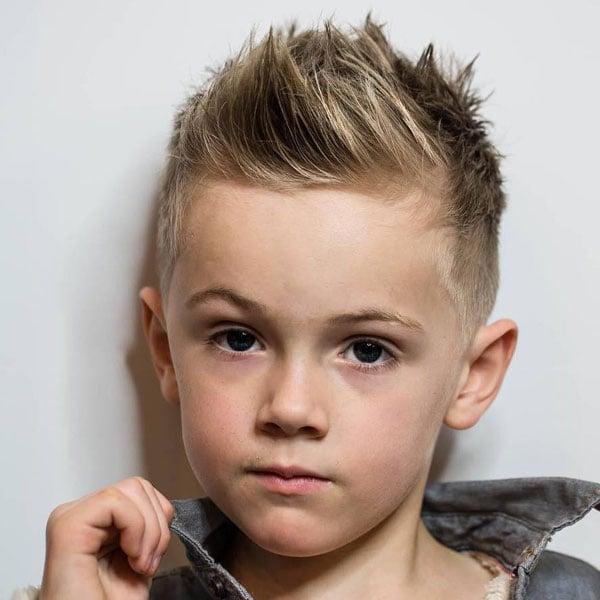 Boys Spiky Hair Fade