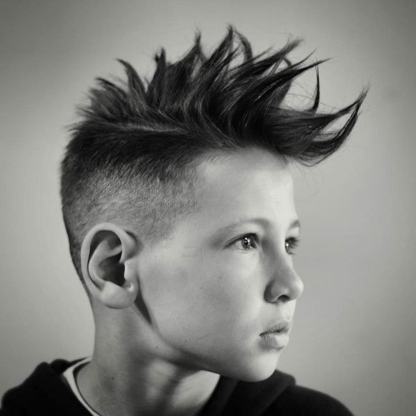 Cool Spiky Mohawk Fade Haircut For Boys