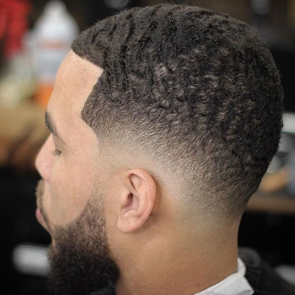 Drop Fade Waves Haircut With Part 9