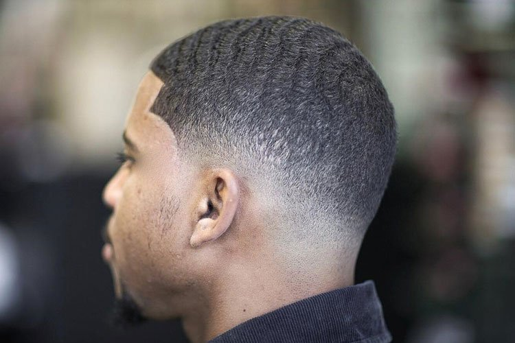 Drop Fade Waves Haircut With Part 13